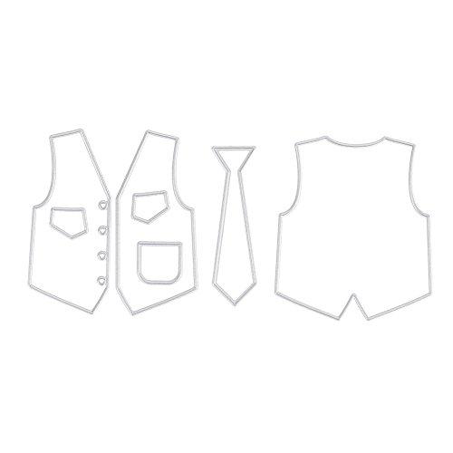 Diy Tuch (Demiawaking Tuch Weste Stanzformen Schablone DIY Scrapbooking Papier Karte Handwerk)