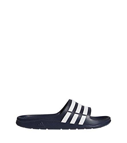 Adidas duramo slide, scarpe da spiaggia e piscina uomo, blu (blue), 43,5 eu