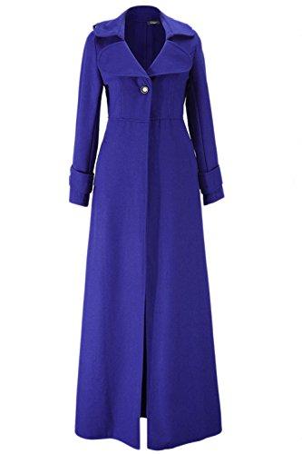 Le Donne Eleganti, Spesso Un Tasto Festa Maxi Cardigan Outerweear Trenchcoats Blue