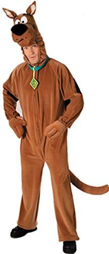 Herren Deluxe Plüsch Scooby-Doo 1960s Jahre Overall Junggesellenabschied Kostüm Kleid Outfit
