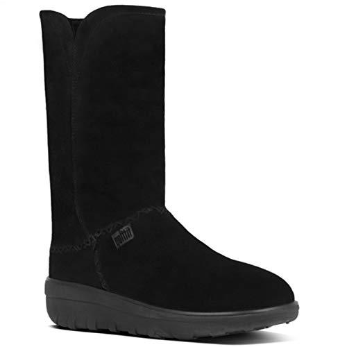 Fitflop Mukluk Boots (FitFlop Supercush Mukluk Boot - Black 4 UK)