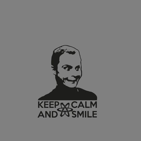 TEXLAB - TBBT: Keep Calm and Smile - Stoffbeutel Grün
