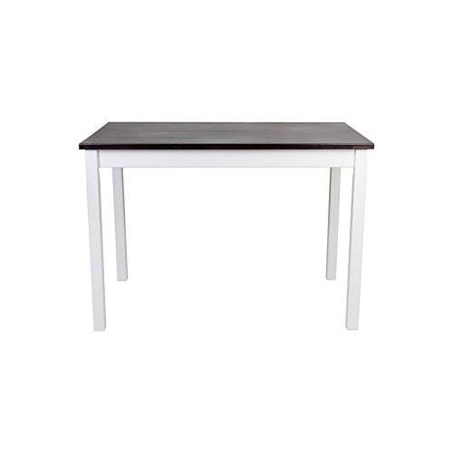 Preisvergleich Produktbild Dell'art Esstisch Massivholz Buche geölt Weiße / Wenge (140 x 80 cm)