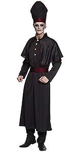 Boland 79105Adultos Disfraz Oscura Sacerdote Talla 58/60, Color Negro