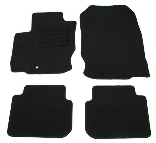 AD Tuning GmbH HG11358 Velours Passform Fußmatten Set Schwarz Autoteppiche Teppiche Carpet Floor mats (Colts-fußmatten)