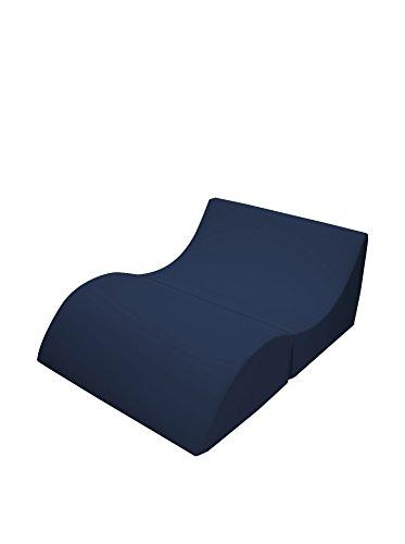 13casa cleo b9 - pouff chaise longue trasformabile matrimoniale. dim: 100x70x50 h cm. col: blu. mat: schium