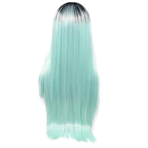 (kashyk Damen Perücke langes Haar + glattes glattes Haar, Maskerade synthetische Perücke Cosplay Perücke Osterperücke)