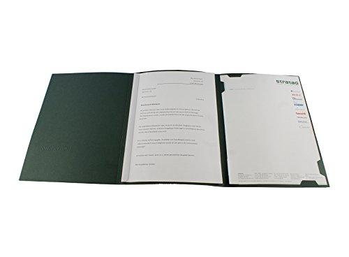 5 Stück 3-teilige Bewerbungsmappen BL-exclusivdruck EASY in Tannengrün // Klassische Premium-Qualität mit edler Relief-Prägung 'Bewerbung' // Produkt-Design von 'Mario Lemani'