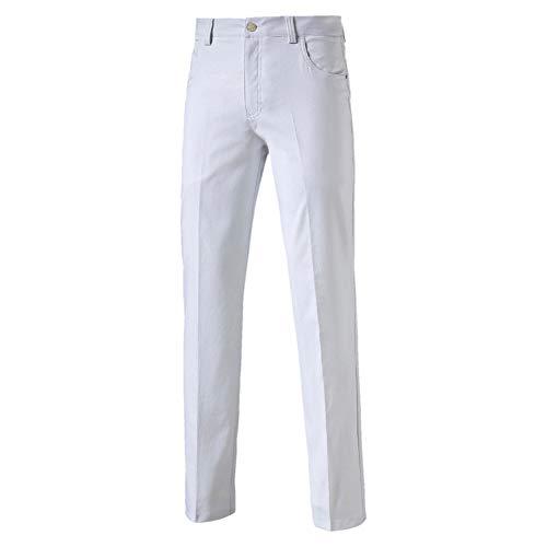 Puma 6 Pocket Pant - bright white, Größe:34/34 -