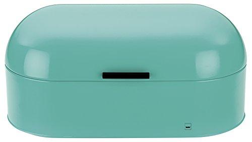 Frisco Metall (Kela 11191 Brotkasten, Glänzendes Metall, 44 x 21,5, Höhe: 22 cm, Frisco, Pastelltürkis)