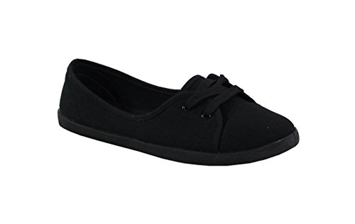 By Shoes Chaussure Détente Plate Style Jean - Femme - Taille 38 - Black