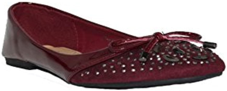 GUAPISSIMA - SHESMISS Bailarina JM-A235 Zapatos Bailarinas de Mujer Negro Granate Camel Primavera Cómodas Baratas...