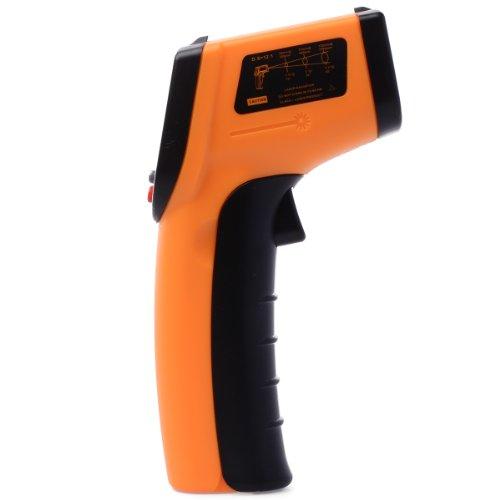 Xcellent Global kontaktfreies Infrarot Thermometer - Strapazierbare Digital Handheld IR Pistole mit Laser Pointer M-HG021