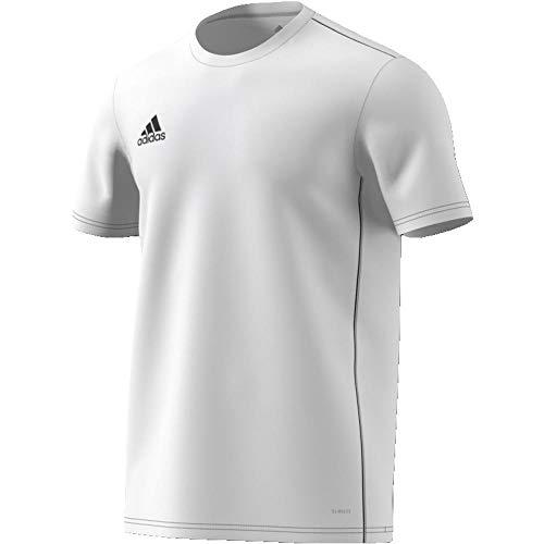 adidas Herren CORE18 JSY T-Shirt, White/Black, M - Adidas T-shirt