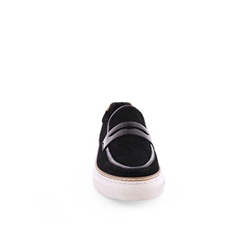 Sixty Seven 77725, Chaussures Habillées Femme daim noir / noir brevet