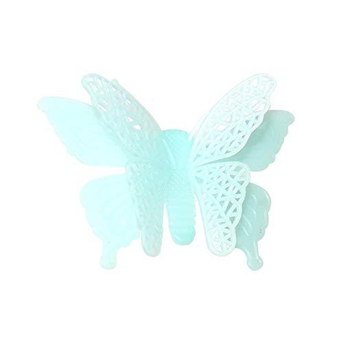 JiaMeng Decoración del hogar 6PC Luminous Butterflies Skin Wall Sticker Decorativo Resplandor...