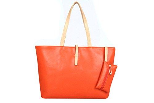 Drasawee , Damen Schultertasche Orange orange L orange