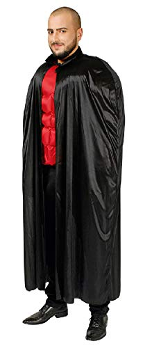 narrenkiste K31272515-136-A schwarz Damen Herren Umhang-Cape Länge ca.136 cm