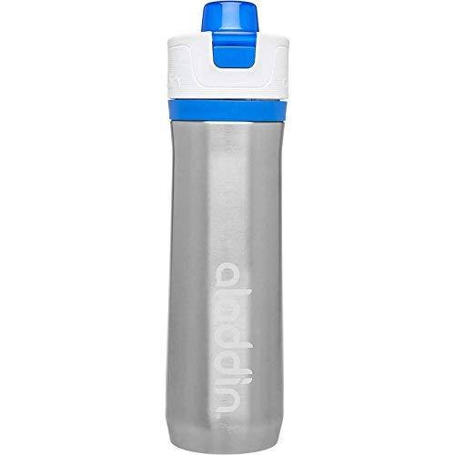 Aladdin Active Hydration Sport-Trinkflasche aus vakuumisoliertem Edelstahl, 0.6 Liter, Blau, Einhändig Bedienbar, Auslaufsicher, mit Tragegriff, Wasserflasche Sportflasche