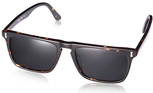 Carfia Polarisierte Sonnenbrille Herren UV 400 Schutz Outdoor Brille, Rechteckig Acetat-Rahmen