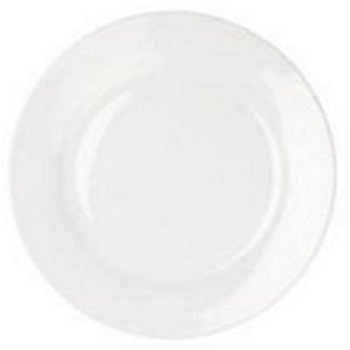 Fsmisc 304111 assiette, porcelaine, blanc, 250 mm, lot de 6.