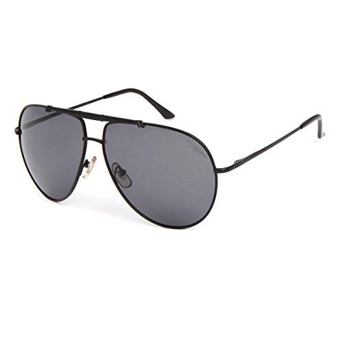 TIANLIANG04 Männer so Aluminium Polarisierte Sonnenbrillen Männer polarisierte Brillen Goggles UV-Schutz 400 Sonnenbrille, Schwarz Gestell Grau len