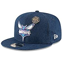 New Era - Casquette NBA Charlotte Hornets New Era Draft 2018 Denim Snapback  9fifty Bleu e37000cdb8ef