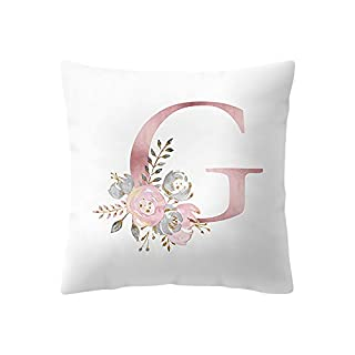 BaZhaHei Letter Pattern Home Cushion Cover Sofa Hug Pillowcase Nursery Decoration English Alphabet Pillow Cases