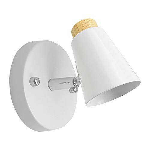 Lampara Moderno Pared Luz E27 Focos Iluminacion LED