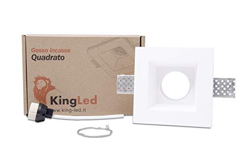 KingLed - Aplique de pared en Yeso Cerámico modelo Cuadrado Alto, de...