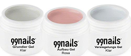 99Nails arco Gel de color rosa, 3Pack (3x 5ml)