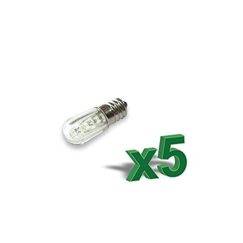 PuntoEnergia Italia - SET 5 x 0.4 W lámpara votiva del LED 12V Ambar - LED04-12Ax5