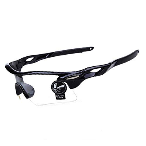 Fahrrad Winddichte Brille Outdoor-Sport Männer und Frauen Brille Sonne Flut Sonnenbrille Motorrad Winddichte Brille, B transparente Farbe