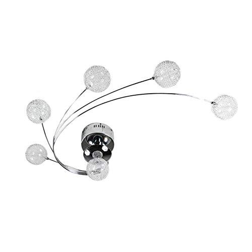 CUICAN Metal Glas Deckenleuchten,Einfache Moderner Kreativ Wohnzimmer Deckenlampe Für Restaurant Schlafzimmer Indoor-leuchte-weißes Licht 75x45x25cm(30x18x10inch)
