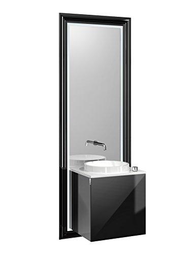 Türgriff Emco (emco touch classic Waschplatz, 45 cm Rahmen Schwarz, Front Schwarz, Griff links)