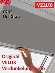 VELUX Original Verdunkelungsrollo für Dachfenster, Y43, Uni Grau