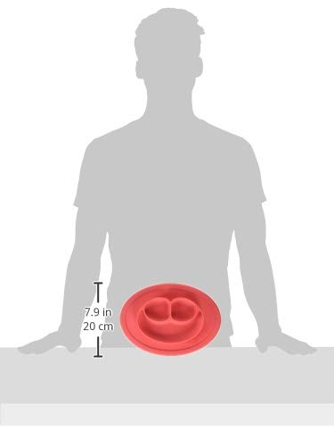 ezpz Mini Mat - One-piece silicone placemat + plate (Coral)