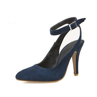 LFNLYX Talons Femme Printemps Eté Automne Hiver Slingback Leatherette Mariage Stiletto Talon Boucle Noir Bleu Bourgogne Blue
