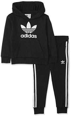 adidas Trefoil Hoodie Kapuzenjacken-Set, Black/White, 122