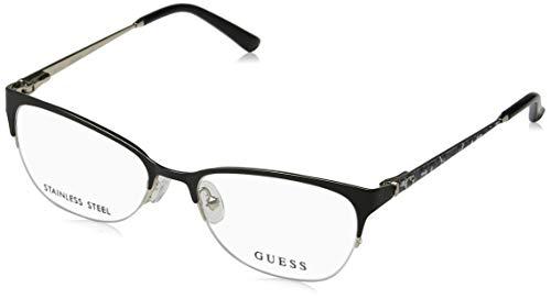 Guess Unisex-Erwachsene GU2584 002 51 Brillengestelle, Schwarz (Nero Opaco),