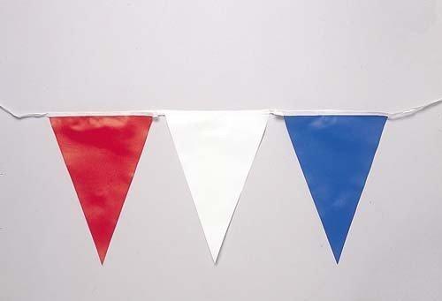 PVC PENNANTS Baumwolle Krawatte Schwimmen am Pool Wimpelkette Flagge Dreiecke 30m Länge (Schwimmer Krawatte)
