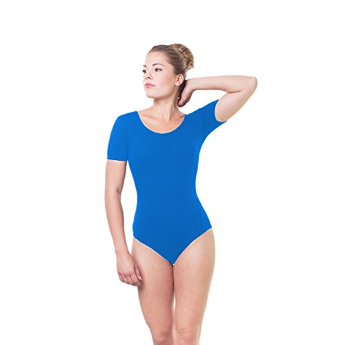 Gymnastikanzug Damen Ballettanzug Kurzarm Bodies Ballett Trikot Turnanzug Bodysuit / Made in EU
