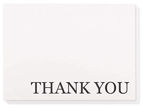 Thank You Karten–120-pack Thank You, Bulk Thank You Cards Set–blanko–auf der Innenseite inkl. Thank You Karten und Umschläge, Weiß, 13x 9,5cm
