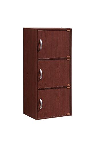 HODEDAH IMPORT Schrank mit 3 Türen Modern Mahagoni - Mahagoni-office-schrank
