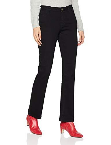 Dorothy Perkins Damen Bootcut Jeans Ashley, Schwarz (Black 130) 38 (Herstellergröße: 12)