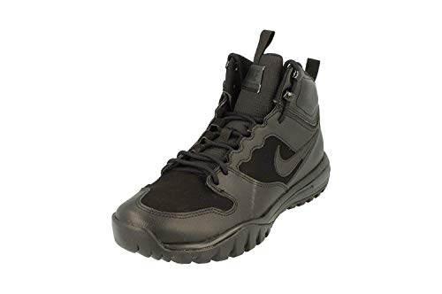Nike Dual Fusion Hills Mid Leather Mens Hi Top Trainers 695784 Sneakers Shoes (UK 9 US 10 EU 44, Black Anthracite 004)