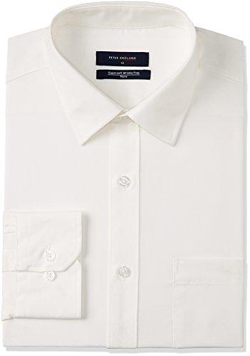 Peter England Men's Formal Shirt (8907495197593_PSF1041600981_44_WhiteSolid)