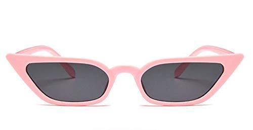 WSKPE Sonnenbrille Frauen Cat Eye Sonnenbrille Klein Sunglass Eyewear Rosa Rahmen Graue Linse