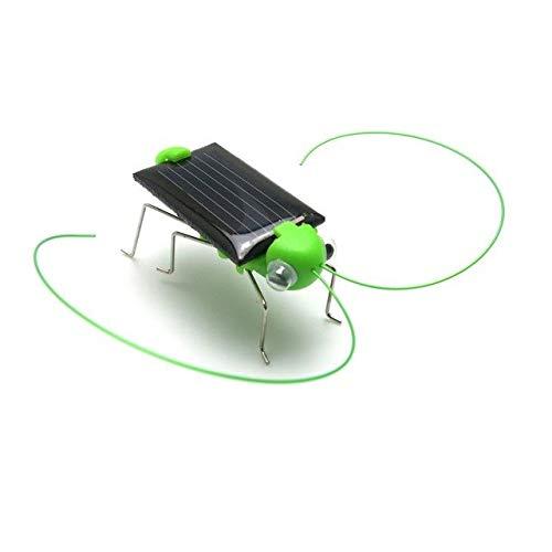 XuBa Kinder Lustiges Grashüpfer-Modell Solar Power Spielzeug Kinder Lernspielzeug 4 * 1,8 cm Energie Cricket Spielzeug Fash Green Cricket Green