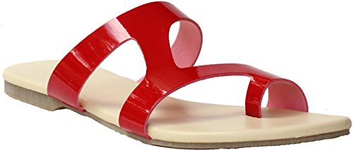 Red Sandals |Women Slippers | Girls Sandals | Flats | Slippers |Sandal | Red | Beige | Red Slippers  available at amazon for Rs.199